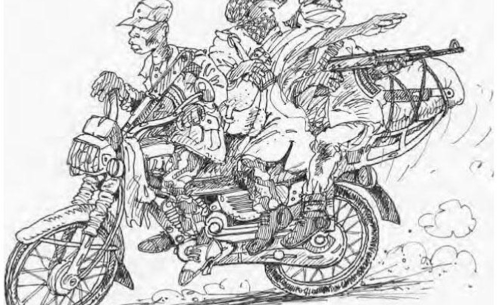 Figure 6.3 - Boko Haram motorcycles (courtesy Christian Seignobos)