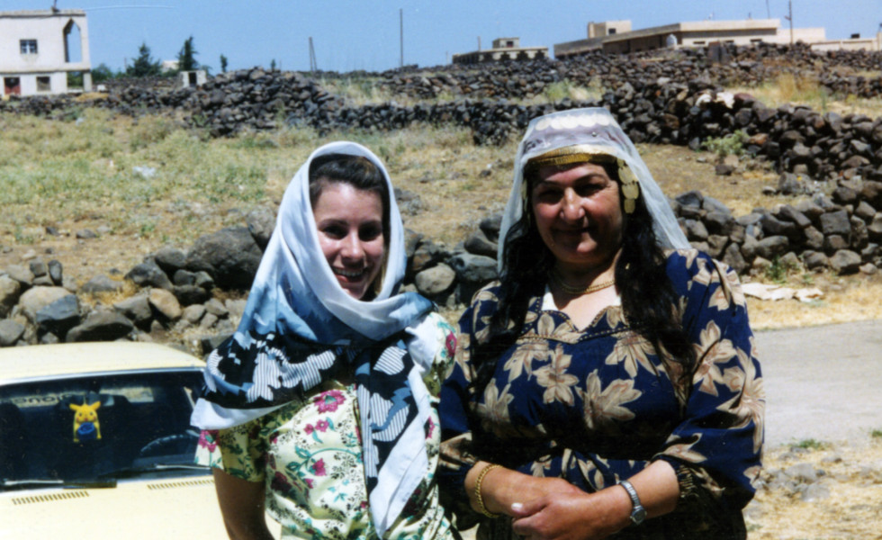 Mshanaf woman me and headress woman 2002